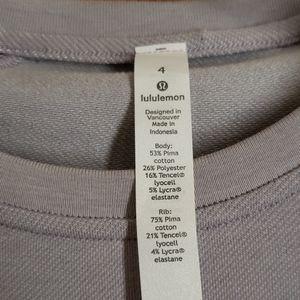 lululemon athletica Tops - NWOT Lululemon Lavender LS Sweatshirt Top Sz 4